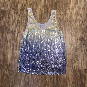 Charlotte Russe Women's shimmering Top